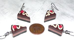Chocolate Torte Charms by jen-kollic