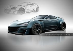 Gt86 Supercar Concept Render by MarisDesign