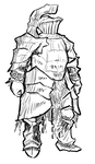 rough of HAVEL the rock, from Dark souls by Ninemeaw