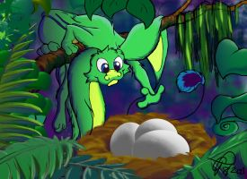 Scamp Gets Eggs 2 by havicAP28