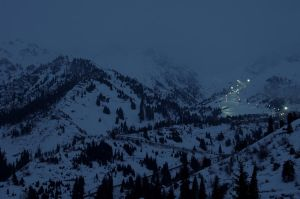 Winter mountain lights IV by voldemometr