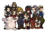 Final Fantasy VII Chibis by FinalFantasyLuvr