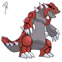 Groudon drawing by Toradust