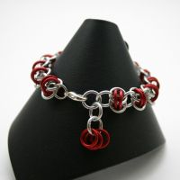 Cherry Red Barrels Bracelet by Utopia-Armoury