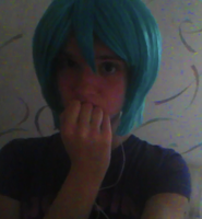 Hatsune Miku Cosplay - Got the Wig cut! by myinsanebestfriend