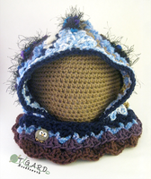 Buttoned Freeform Hood by tigardneedlework