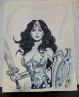 Wonder Woman con sketch by MichaelDooney