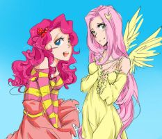 Fluttershy and Pinkie Pie by YelowFOX