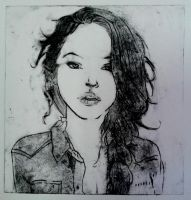 Yaya : Etching Print by LelouchArt