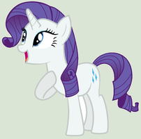 Rarity on MS Paint by StormDragon3