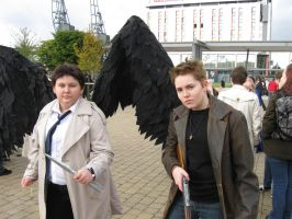 Castiel and Dean by UndertakerisEpic