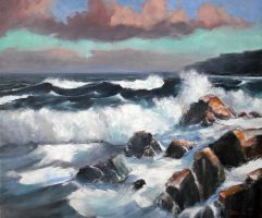Seascape Oil Painting 4 by Boias
