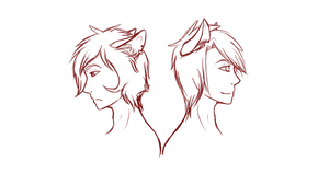 (WIP) Ian and Kai by OfficialWolfGirl