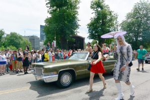 2015 Boston Pride Parade, Dragging Beside the Ride by Miss-Tbones