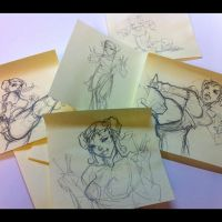 Chun Li Sketches by playkill