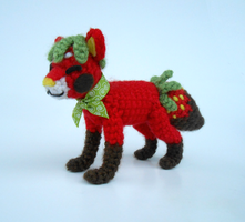 Chocolate Strawberry Sushi Dog - Amigurumi by Pickleweasel360