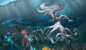 Underwater Boss by Elfessa