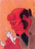 Hellboy and Kitty by LEXLOTHOR