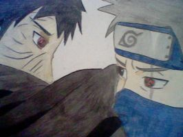 Obito and Kakashi by inspired118