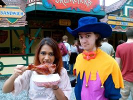 Clopin and Esmeralda Indulge in the Feast of Fools by techaspike