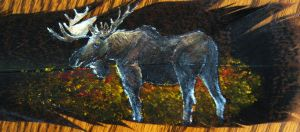 Moose Feather Painting by SpikedPyro