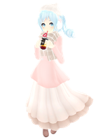 TDA Pastel Winter Miku by Kavailateg