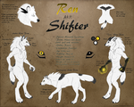 Shifter (Ren) Reference Sheet - 2016 by Wereren