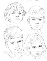 STUDIES OF LITTLE ONES FACES by AbdonJRomero