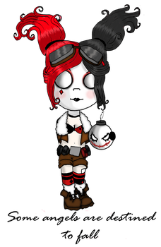 Harley Quinn Bombshell chibi 2 by Little-Horrorz