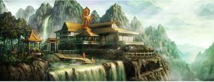ancient temple by JunJ