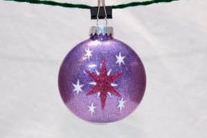 Twilight Sparkle Glitter Ornament by cutekick
