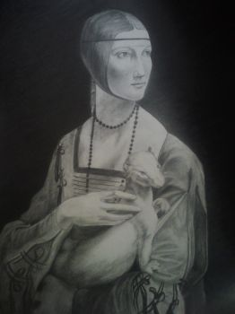Lady with an Ermine by anyiia