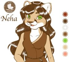 Neha with Flat Colors by KittMouri