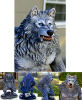 Werewolf Statue Paint-up by pyro-helfier