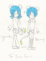 :New characters: Yumika and Akimuy the snow lions by Eduardathewolf