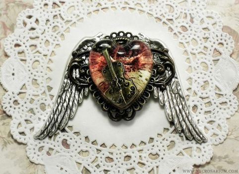 Angelic Violin Brooch 2 by Necrosarium