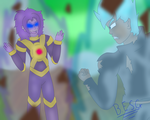 Super Saiyan God Mike vs Super Android Alpha by BrownEyedSaiyanGirl