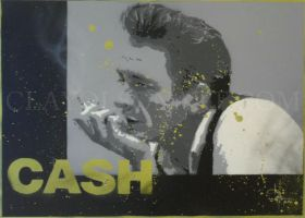 johnny cash by clayolsonart