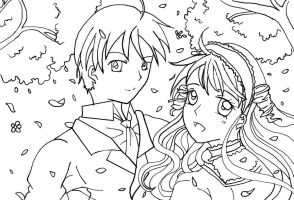 FMwS: Takuto and Mitsuki Line Art by NeoSailorCrystal
