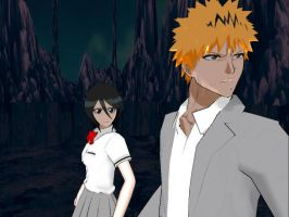newcomers: Ichigo and rukia by gothicjinx101