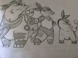 Pokabu Evolutions by chanchimi