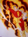 Captain Marvel SHAZAM!! by danablackarts