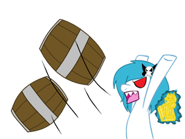 BARRELS GET OF FROM HERE!!! by Moonlight-The-Pony