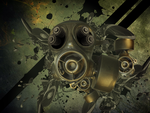 Gas mask Grunge wallpaper by Synthro