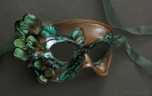 Elegant Bird Leather Mask by windfalcon