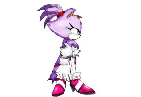 Blaze The Cat All Alone by shadow759