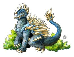 Anguirus, Rival and Friend to the King by KaijuDuke
