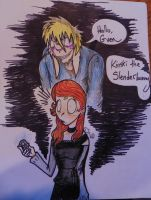Art Gift Gwen and Kinski by Bat13SJx