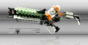 Concept Art of a District 9 Weapon by Braxxon