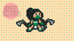 Akali (League of Legends) made with Hama Beads by oOSairenOo